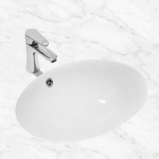 CB HOME Oval White Ceramic Under Mount Lavatory Vanity Bathroom Sink