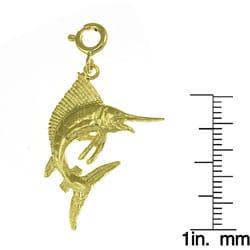 14k Yellow Gold Marlin Charm
