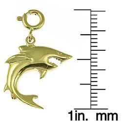 14k Yellow Gold Shark Charm