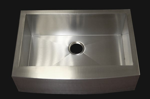 33-inch Stainless Steel Single-bowl Farmhouse Sink