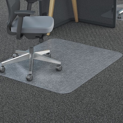 Moda Excellent Home Office PVC Chair Mat Rectangle Shape with Studs