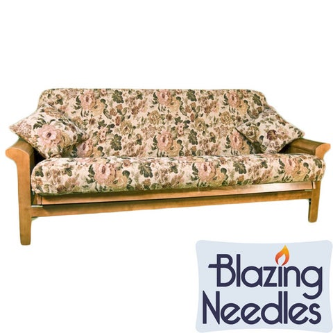 "Blazing Needles 3-piece Tapestry Futon Cover Set - 42"" x 22"""