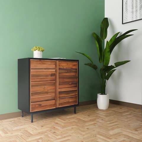 Hopper Studio Meridian Teak 2 Door Cabinet