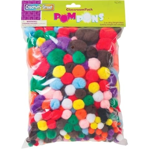 Creativity Street Pom Pons Class Pack - 300 / Pack - Assorted