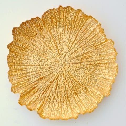 """CORAL 8"""" Gold Gilded Salad Plate"""