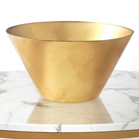 """Gilt 11"""" Gold Gilded Serving Bowl"""