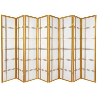 Three-Panel Wood and Rice Paper Double Cross Shoji Screen (China)