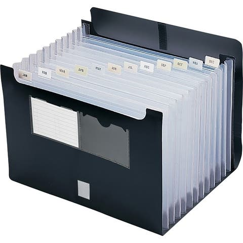 Smead Poly Desktop Expanding Alphabetic and Monthly Black, EA