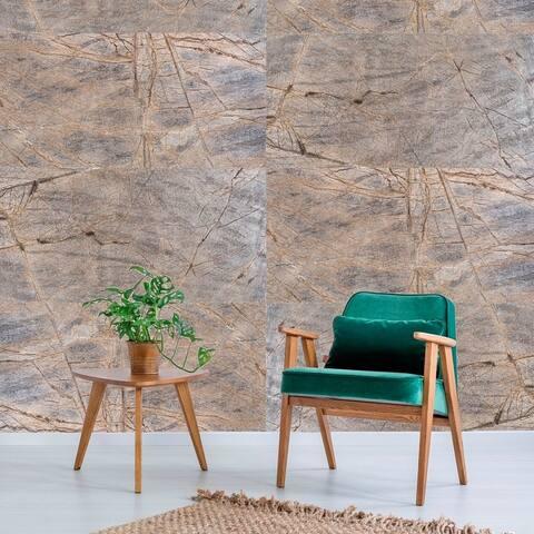 KinglySlate Flexible Natural Stone Veneer Sheet Rainforest Brown Sandstone