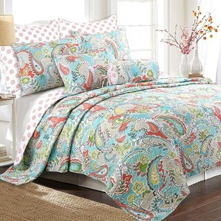 Link to Porch & Den Bajada Paisley Reversible 3-piece Quilt Set Similar Items in Quilts & Coverlets