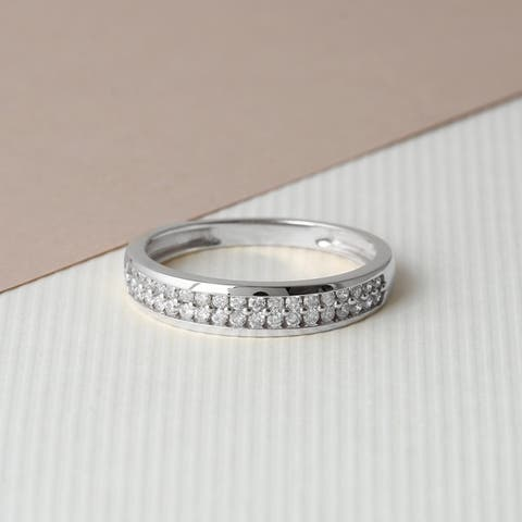 IGI Certified 1/4ct TDW Diamond Anniversary Band in 14k Gold by De Couer