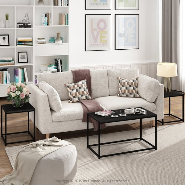 Furinno Camnus Modern Living Room Table Set With One Coffee Table And Two End Tables Overstock 30630404