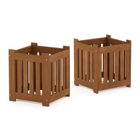 Furinno Tioman Hardwood Outdoor Lifestyle Flowerbox, Set of 2