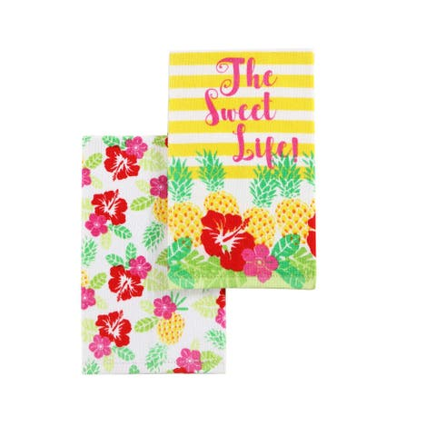 VCNY Home Pineapple Tropical Kitchen Towel Set