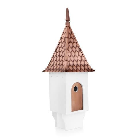 Chateau Bird House - Pure Copper Diamond Pattern Roof By Good Directions