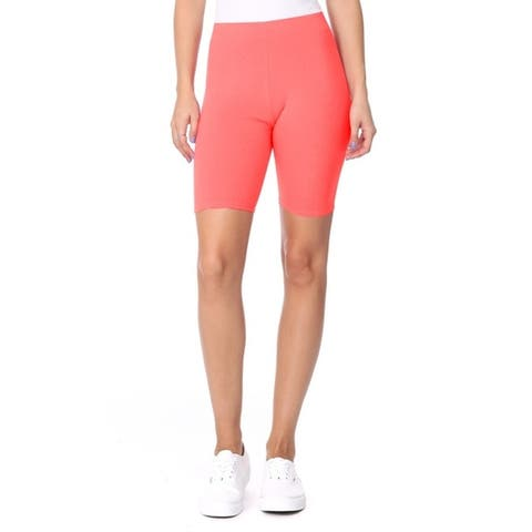 Women's Solid Workout Yoga Bodycon Activewear Biker Shorts