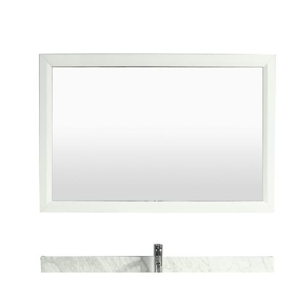 "Eviva Aberdeen 60"" White Framed Bathroom Mirror"