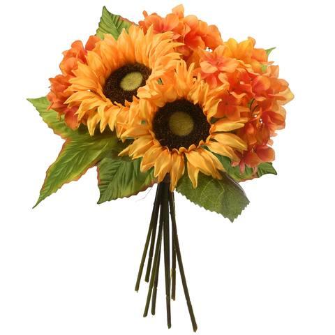 "12"" Sunflowers and Hydrangeas Bundle"