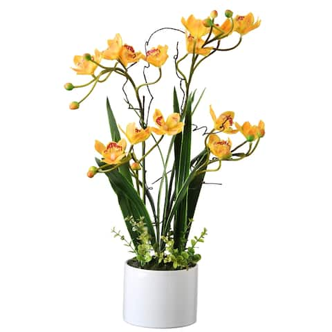 """18"""" Yellow Orchid Flowers"""