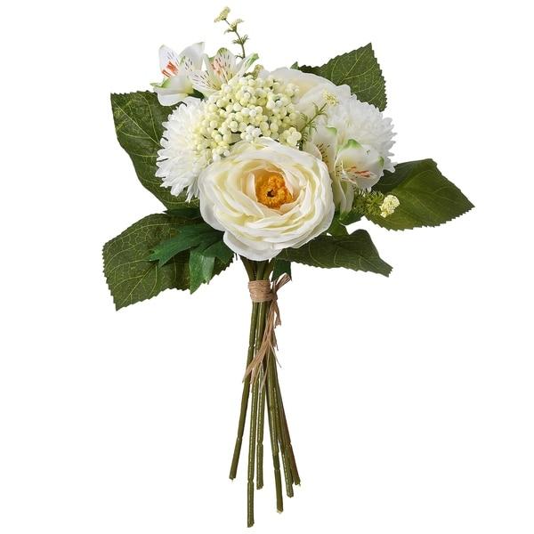"""13"""" White Peony Roses Bundle"""