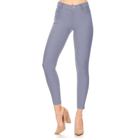 Women's Casual Cotton Blend Skinny Jeggings Jeans Pants