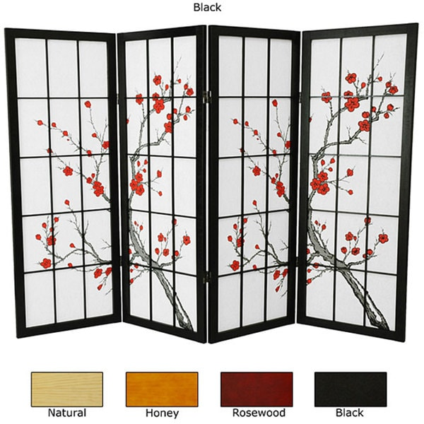 Wood and Rice Paper Cherry Blossom Shoji Screen (China). Opens flyout.