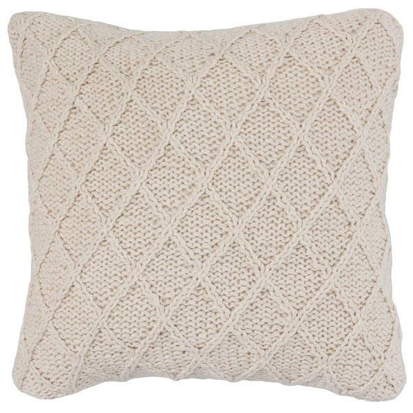 Kosas Home Sherwood 100% Cotton Hand-Knit 20-inch Throw Pillow