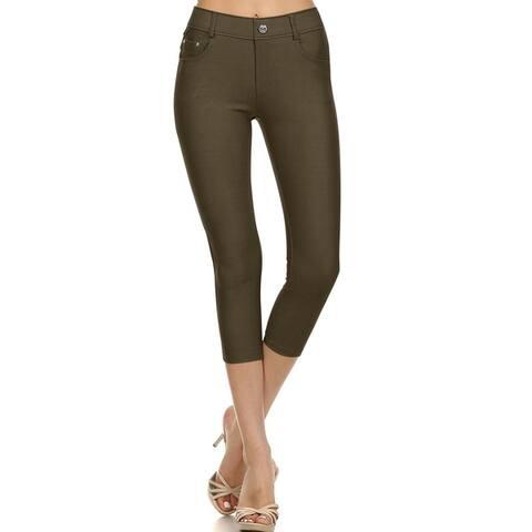 Women's Casual Super Stretch Comfy Pocket Jean Pants