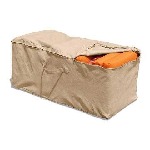 "Budge Patio Cushion Storage Bag, NeverWet® Savanna, Tan - 22""H x 48""W x 18""Deep"
