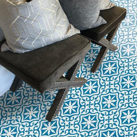 Handmade Argana in Dark Blue and White Tile (Morocco)