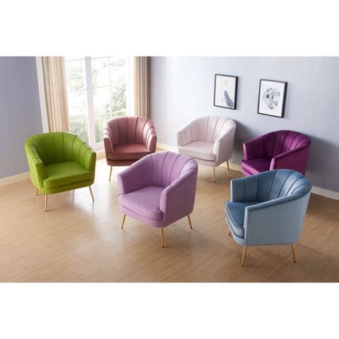 Furniture of America Delicia Contemporary Upholstered Accent Chair