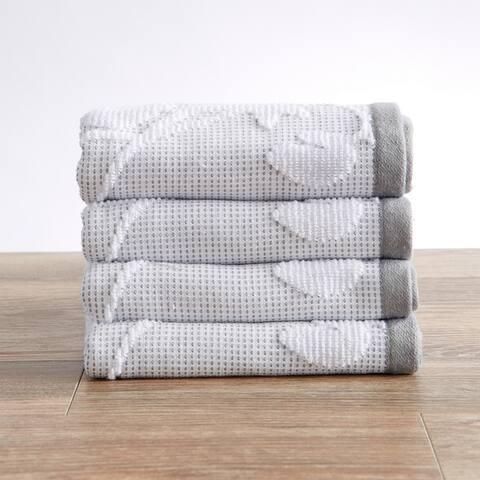 Roselyn Collection 100% Cotton Floral Jacquard Bath Towels