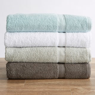 Gracie Collection 100% Cotton Quick-Dry Solid Bath Towels