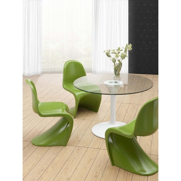 S-shaped Green Chair (Set of 2)