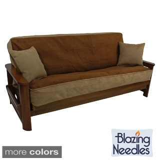 foam backed microsuede 3 piece futon cover set  2 options available  futon covers for less   overstock    rh   overstock