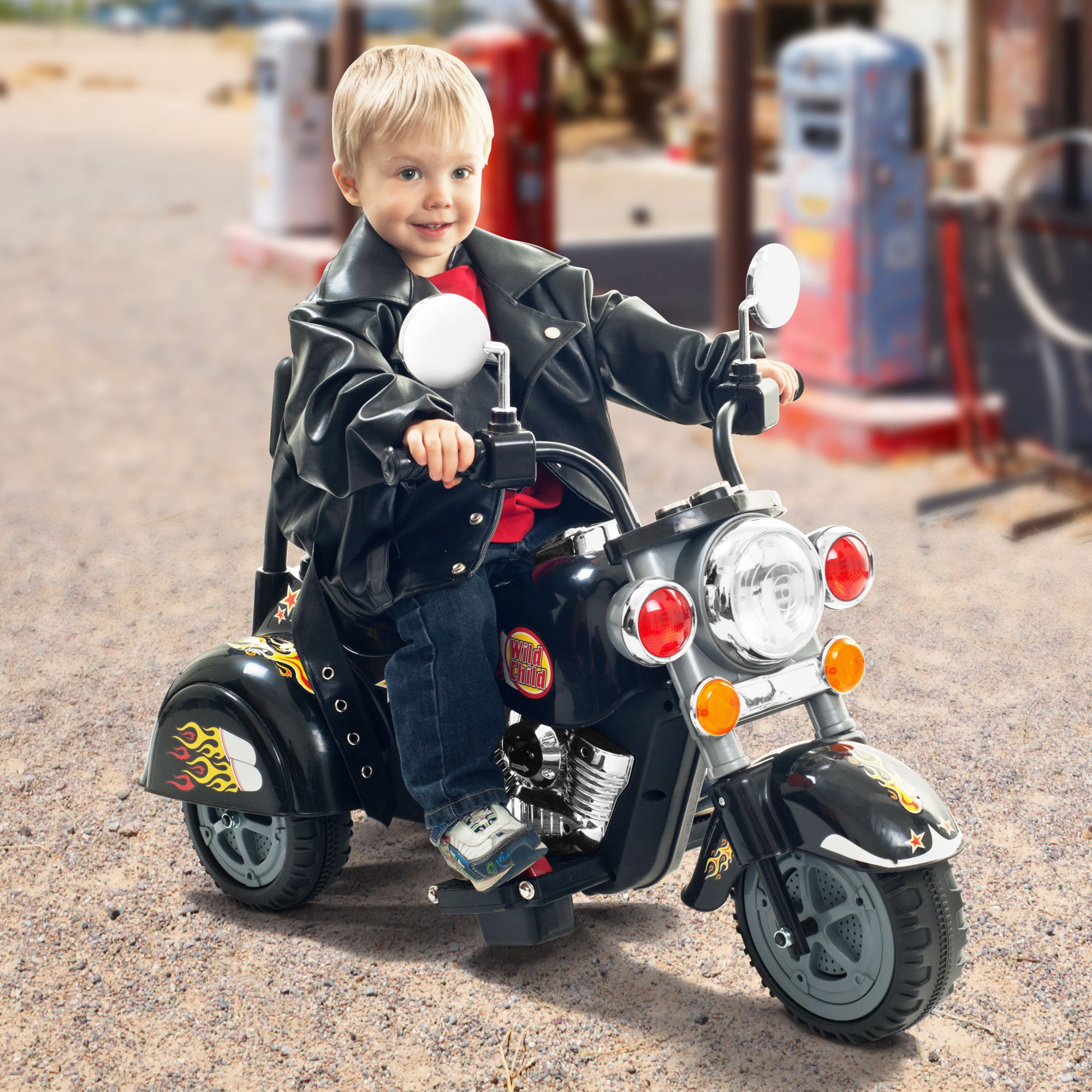 Lil' Rider 3 Wheel Chopper Kids Battery Powered Ride On M...