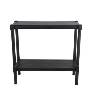 Wooden Rectangular Console Table with One Spacious Open Shelf, Black