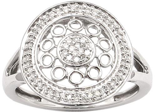 Sterling Essentials Sterling Silver 1/6ct TDW Diamond Sara Ring (H-I, I1)