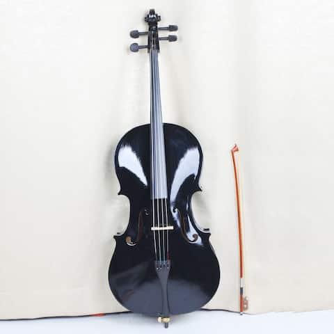 4/4 Cello Acoustic Bridge Full Size with Bag Bow Rosin Beginner