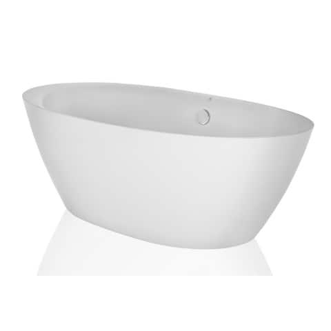 Empava 71 in Freestanding Bathtub Acrylic Soaking SPA Tubs in White