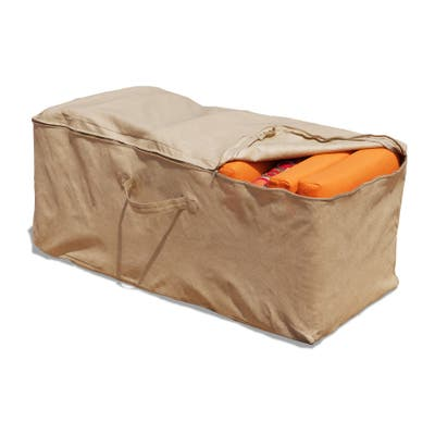 "Budge Water-Resistant Outdoor Cushion Storage Bag, All-Seasons, Nutmeg - 19""H x 47""W x 18""Deep"