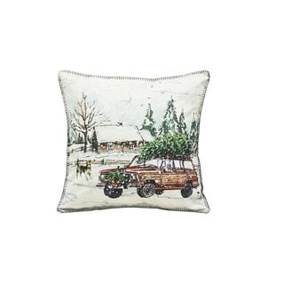 Trucking Tree Pillow