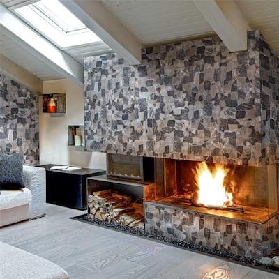"SomerTile Boulder Gris 16.86"" x 16.86"" Ceramic Floor and Wall Tile"