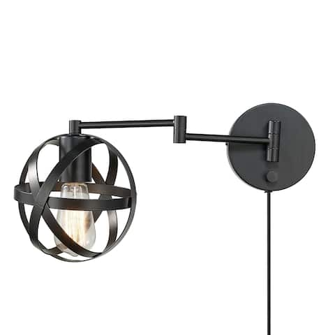 Carbon Loft Omar 1-light Dark Bronze Swing Arm Wall Sconce