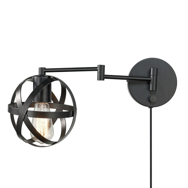 Carbon Loft Omar 1-light Dark Bronze Swing Arm Wall Sconce. Opens flyout.
