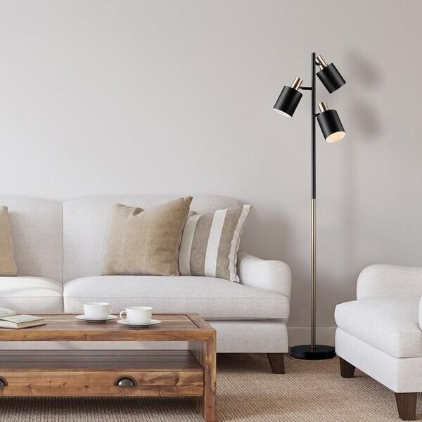 Porch & Den Minnie Matte Black 3-light Track Tree Lamp. Opens flyout.