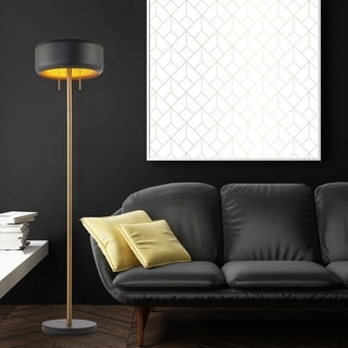 "Link to Novogratz x Globe 58.5"" 2-Light Metallic Dark Gray Floor Lamp Similar Items in Table Lamps"