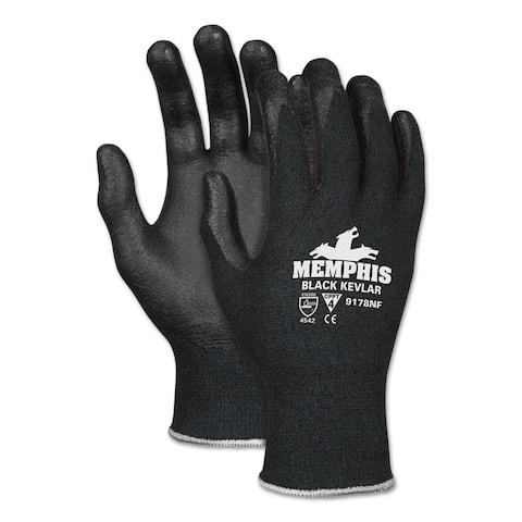 Kevlar Gloves 9178Nf, Kevlar/Nitrile Foam, Black, Large