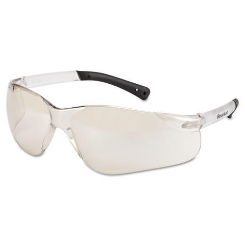 Bearkat Safety Glasses, Frost Frame, Clear Mirror Lens