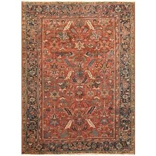 Handmade One-of-a-Kind Antique 1920's Heriz Wool Rug (Iran) - 7'1 x 10'6